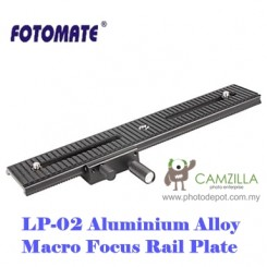 Fotomate LP-02 Macro Turning Slider Tripod Head Plate Two-way Movable 200mm