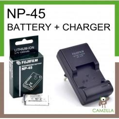 ORI FUJIFILM Rechargeable Battery NP-45+ ORI FUJIFLIM BC-45 CHARGER