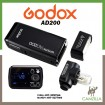 Godox AD200 200Ws 2.4G TTL Flash Strobe 1/8000 HSS Cordless Monolight with 2900mAh Lithium Battery o Cover 500 Full Power Shots and Recycle In 0.01-2.1 Sec