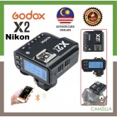 Godox X2 / X2T 2.4 GHz TTL Wireless Flash Trigger for NIKON (Ship from Malaysia)