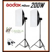 Godox Mini Pioneer 400W (2X 200W) 60x90cm Softbox Studio Flash Strobe Kit