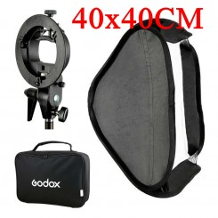 Godox SOFTBOX Soft box 40X40CM S-TYPE BRACKET - For Speedlite