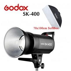 Godox SK400 400WS Smart Photography Strobe Flash Studio Light With 70x100CM SoftBox