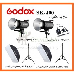 Godox SK-400 400W Photography Photo Studio Strobe Flash Lighting (2 Light Set)
