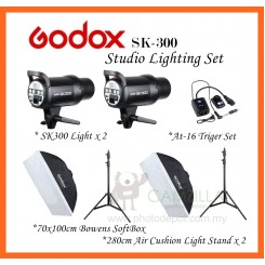 Godox SK-300 300W Photography Photo Studio Strobe Flash Lighting (2 Light Set)