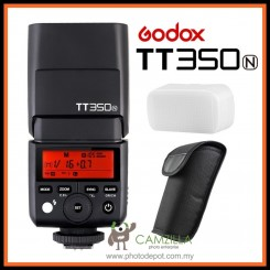 Godox TT350N 2.4G TTL Speedlite GN36 1/8000s HSS Camera Flash for Nikon DSLR & Mirrorless Cameras