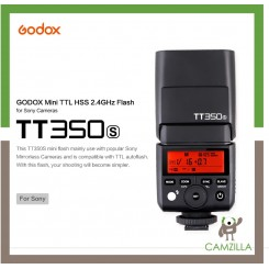 Godox TT350S Mini TTL HSS 2.4GHz Flash For Sony Cameras