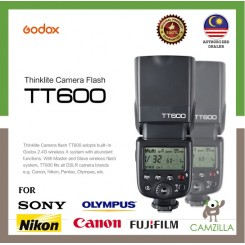 GODOX TT600 HSS Wireless Speedlite for Canon/ Nikon/ Fujifilm/ Sony/ Olympus