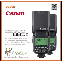 Godox TT685C Speedlite Flash with E-TTL II Autoflash for Canon EOS 5D Mark III 5D MarkII 6D 7D 60D 50D 650D 600D 550D 400D 1100D