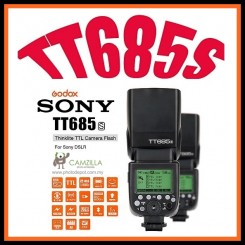 Godox TT685S Camera Speedlite TTL Master Slave GN60 2.4G Wireless Transmission HSS 1/8000S for Sony A77II A7RII A7R A58 A99 ILCE6000L