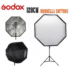 Godox Photo 120cm Octagon Umbrella Softbox Brolly Reflector for Photography Studio Flash Speedlite