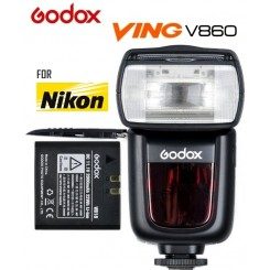 Godox V860N Ving E-TTL Li-ion Battery Powered Camera Flash Speedlight Speedlite for Nikon (Battery & Charger Included)