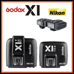 GODOX X1N TTL Flash Trigger 1/8000s HSS 32 Channels 2.4G Wireless LCD Strobe Trigger Transmitter and Receiver Camera Shutter Release for Nikon Godox TT685N TT600