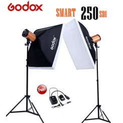 Godox Smart Studio 2 Monolight Flash Light Strobe (250WS) Softbox Kit