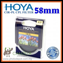 100% Genuine 58MM HOYA Circular Polarizer (CPL) FILTER