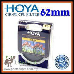 100% Genuine 62MM HOYA Circular Polarizer (CPL) FILTER