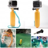GoPro Yellow Floating  Handle Handheld Stick Monopod Hand Grip