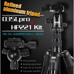Hpusn 035lpro aluminum tripod + HP221 professional ball head kit Protable Travel SLR camera tripods