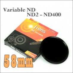 I-Lens 58mm ND2 to ND400 slim fader ND filter adjustable variable neutral density