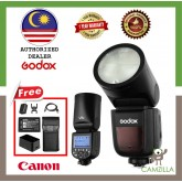 Godox V1 Flash Speedlight Round Flash TTL Li-ion Battery for Canon