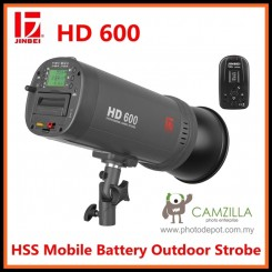 Jinbei NEW HD-600w HSS Mobile Battery Hand Studio Strobe Flash Builtin Battery