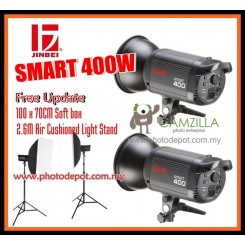 JINBEI 2 x SPARK 400 Flash SPARK Series Photography Studio Flash Kit with 70x100cm Softbox