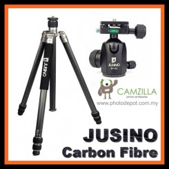 Jusino AX-253C (Carbon Fibre) Professional 3-Sections Tripod with BT-02 Professional Ballhead (Max Load 15kg)