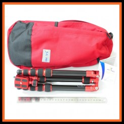 Jusino AX-225S Ruby Red Ultra Compact Traveller Series 5-Sections Tripod + BS-08 Professional Ballhead (Max Load 5kg)