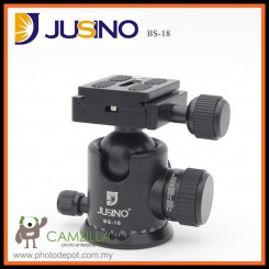 Jusino BS-18 Professional Ballhead with Quick Release System (QR Plate Included) (Black) (Max Load 10kg)