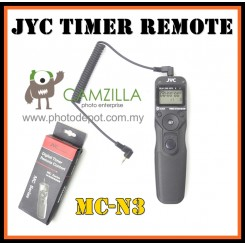 JYC Timer Remote MC-N3 for Nikon D90, D3200,D3100, D3000, D5000, D5100,D5200, D700,D600