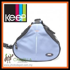 KEEP CZL-C10 FOTO BAT DSLR CAMERA BAG FOR CANON NIKON SONY - SKY BLUE