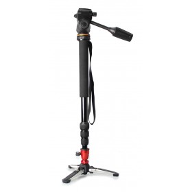 Kreisel K-38 Camera Monopod With Three Feet Stand Support Base For DSLR Canon Nikon