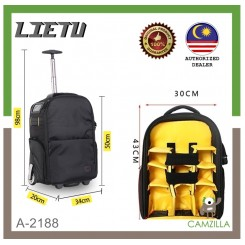 LEITU A-2188 Camera Roller Trolley Bag (Black)