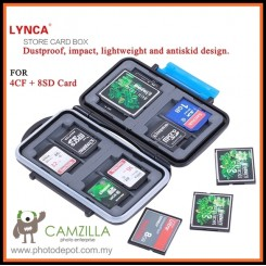 LYNCA Memory Card Storage Box Case Protecter for 4CF+8SD
