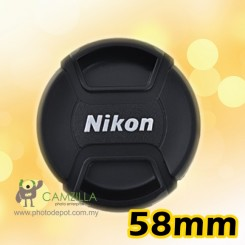 58mm Nikon lens cover / lens cap