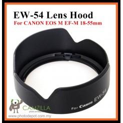 NEW EW-54 Lens Hood for Canon EF-M 18-55mm IS STM Lens EW54