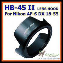 Flower HB-45 II lens hood For Nikon AF-S DX NIKKOR 18-55mm f/3.5-5.6 G VR