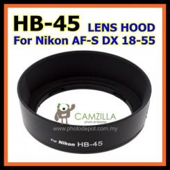 HB-45 HB45 Lens Hood Shade for Nikon AF-S 18-55/3.5-5.6 G VR