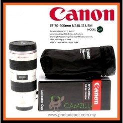 Canon EF 70-200mm f/2.8L IS USM Lens Mug w/ Cover Ideal Gift for Photographer