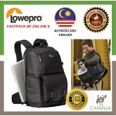 Lowepro Fastpack BP 250 AW II Black (Lowepro Malaysia Warranty)