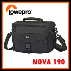Lowepro Nova 190 AW Shoulder Bag Camera Bag (Black)