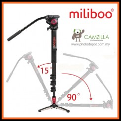Miliboo MTT705A Professional Aluminum Monopod with Hydraulic Video Head ( similar with Manfrotto MVM500A )