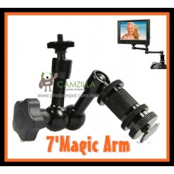 "Camzilla 7"" Articulating Magic Arm Hot shoe Mount Rig Holder"
