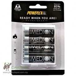 Maha PowerEx Imedion 2400mAh AA Size NiMh Rechargeable Batteries 4pcs