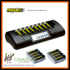 Maha PowerEx MH-C801D + PowerEx 2700mAh AA Batteries (8 pcs)