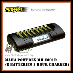 Maha PowerEx MH-C801D (8 batteries 1 hour Charger)