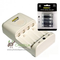Maha PowerEx C204W + Imedion 2400mAh AA Batteries (4pcs)