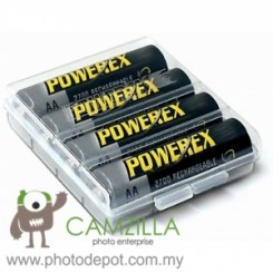 Maha PowerEx 2700mAh NiMH Rechargeable AA Batteries (4pc Blister Pack with Carrying Case)
