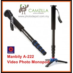 Manbily A-222 Camera Monopod,Portable Professional DSLR Monopod For Canon Nikon DSLR DV Lightweight Monopod Max:65