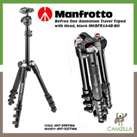 Manfrotto BeFree One Aluminium Travel Tripod with Head, black MKBFR1A4B-BH